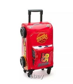 Official Disney Cars 3 Lightning McQueen Rolling Luggage Case Trolley BNWT