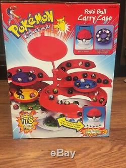 Pokemon Poke Ball Carry Case Holds 178 Marbles