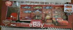 RARE HTF Disney Store Exclusive World of Cars Mack Truck Carrying Case w 15 Cars