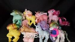 Vintage My Little Pony Lot Of 19, Case, Parlor, Carriage, Accessories